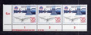 DDR 1978 2362 DV 3 ** Sojus Otto Lilienthal Interkosmos Gemeinsamer Weltrau