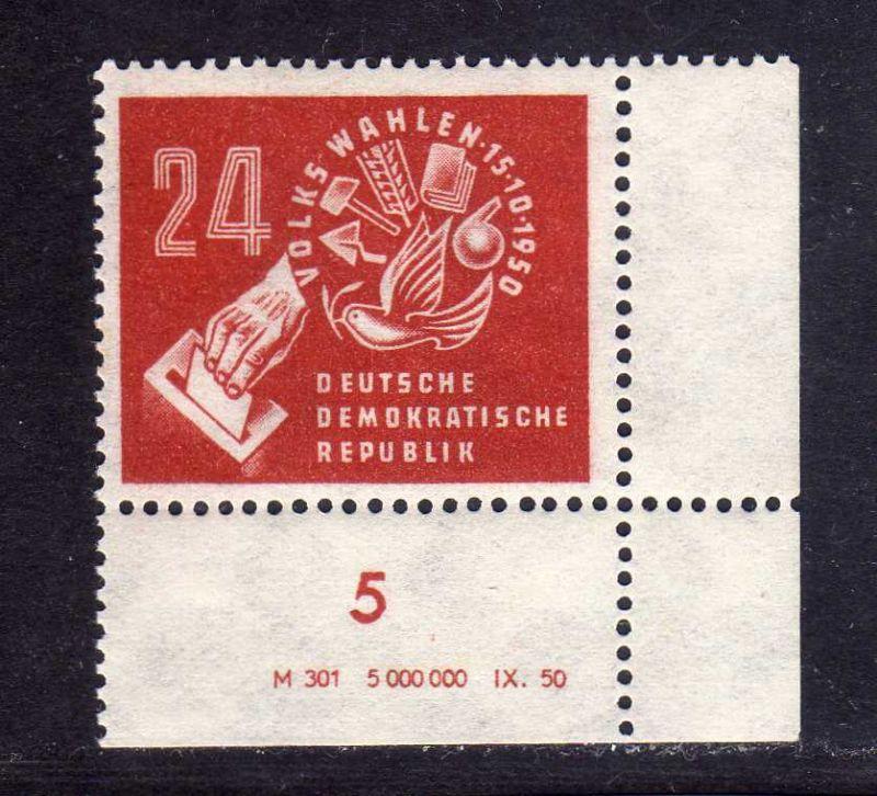 DDR 1950 275 Volkswahlen ** DV ungefalten, nicht angetrennt Variante Wolf a 0