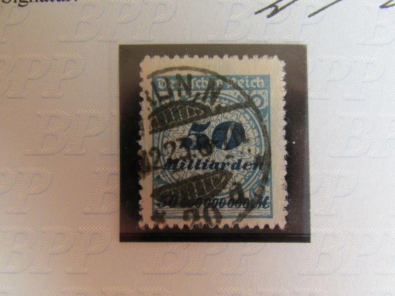 h1012 DR 330 B 50 Milliarden gestempelt durchstochen Fotoattest 0