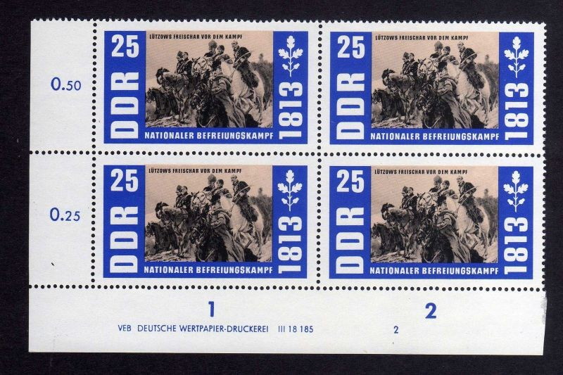 DDR 1963 991 DV Druckvermerk 2 ** Befreiungskriege  Freischar von Adolf Frei 0