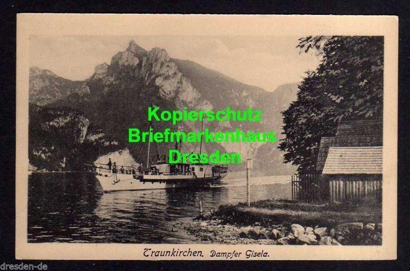 Ansichtskarte Traunkirchen Dampfer Gisela um 1930 0
