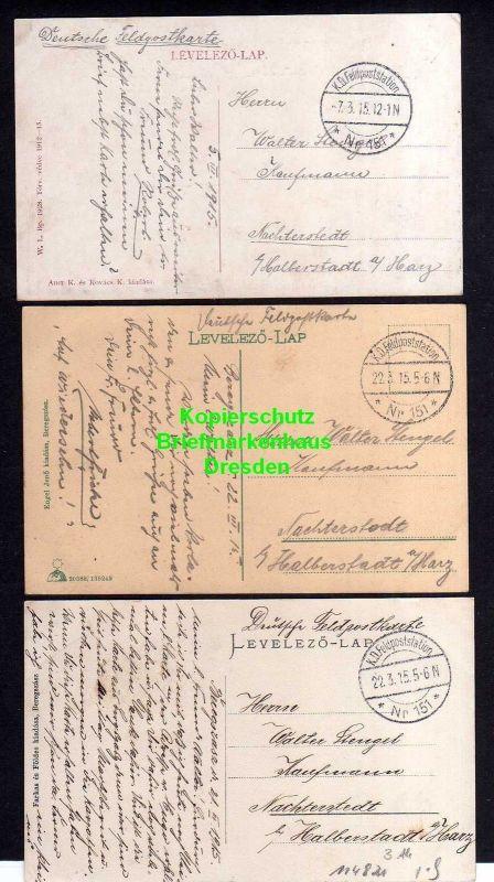 3 Ansichtskarte Beregszasz Bergsaß Berehowe 1915 Feldpoststation 151 Gymnasium Kirch 1