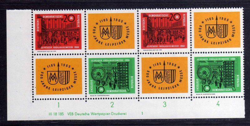 DDR 1964 1012 - 1013 DV Druckvermerk 1 **  Leipziger Frühjahrsmesse 0