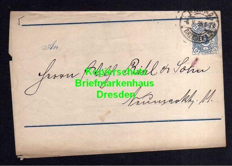 Privatpost Hansa Dresden 1895 Ganzsache Streifband 0