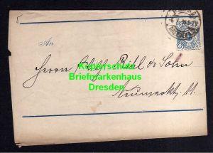 Privatpost Hansa Dresden 1895 Ganzsache Streifband