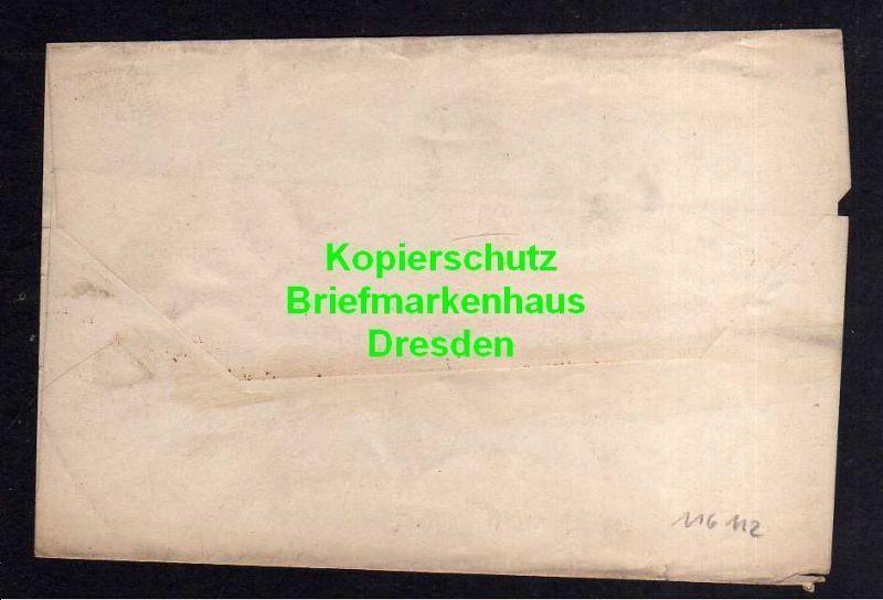 Privatpost Hansa Dresden 1895 Ganzsache Streifband 1