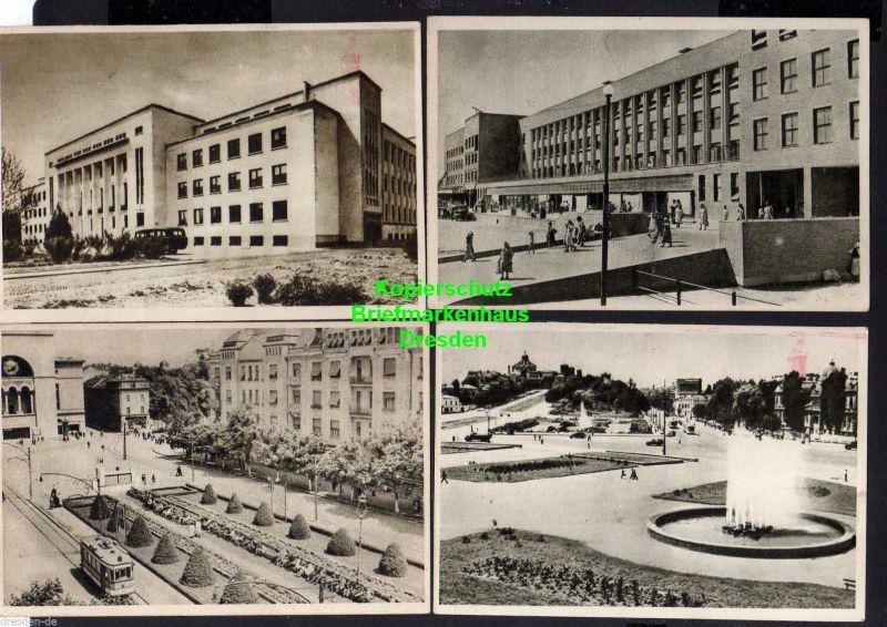 13 Ansichtskarte Bukarest Bucuresti 1954 Theater Stalin Platz Botanischer Garten ... 0