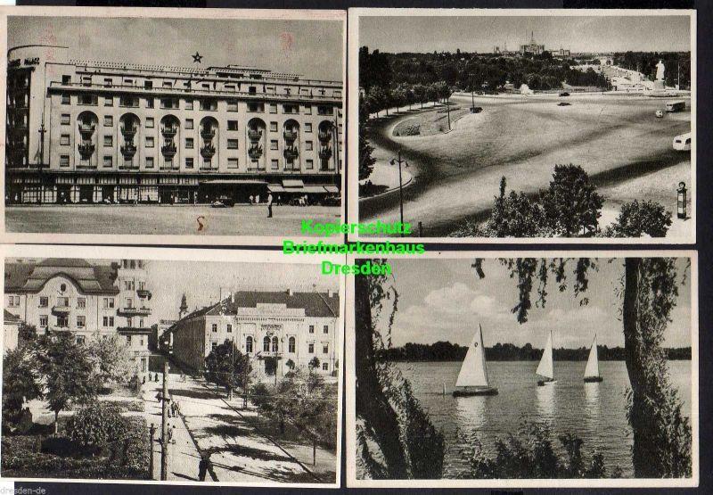 13 Ansichtskarte Bukarest Bucuresti 1954 Theater Stalin Platz Botanischer Garten ... 1