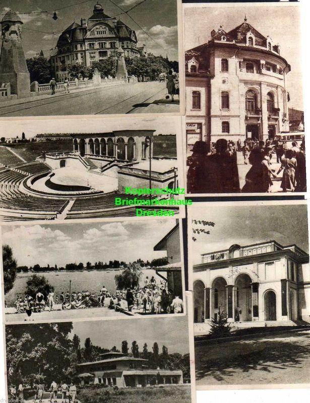 13 Ansichtskarte Bukarest Bucuresti 1954 Theater Stalin Platz Botanischer Garten ... 2