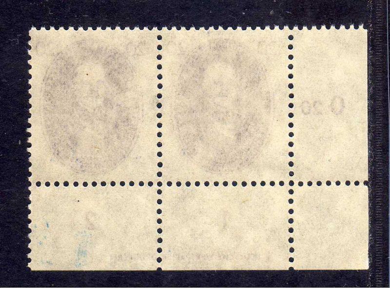 DDR 1950 268 Akademie 20 Pfg. Nernst * DZ Druckereizeichen 1