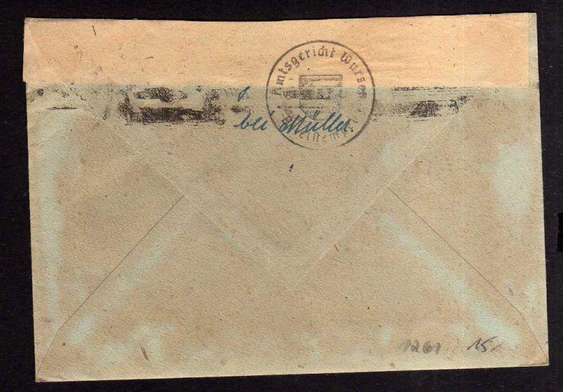h1261 Brief Handstempel Bezirk 27 Waldheim 1.7.48 Amtsgericht Notumschlag 1