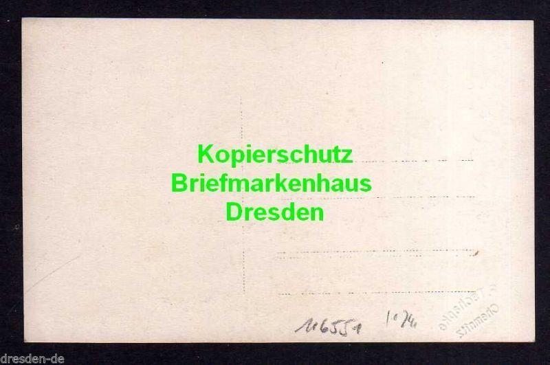 Ansichtskarte Chemnitz Fotokarte Flugtag Flugzug über Menschenmassen 1920er Jahre 1
