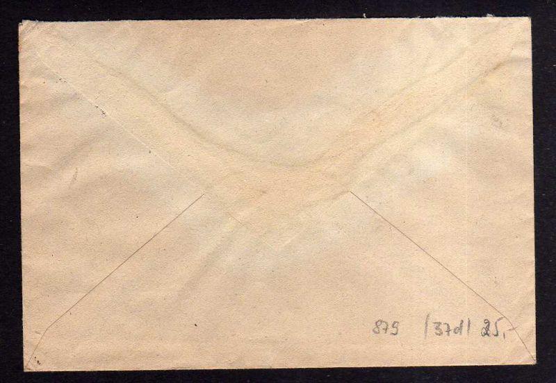 H879 Brief Handstempel Bezirk 29 Schönebeck 3 2.7.48 Notumschlag nach Dessau 1
