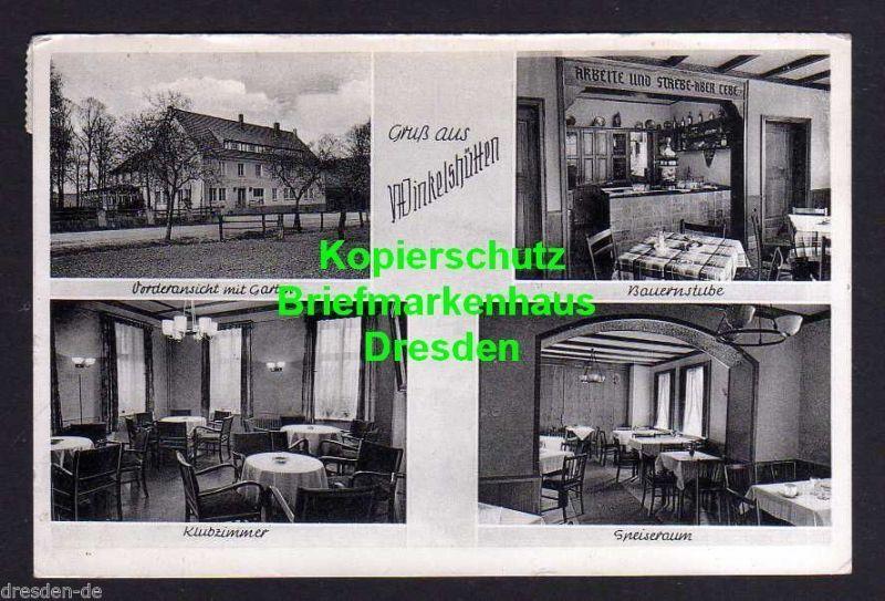 Ansichtskarte Borgholzhausen Winkelshütten 1953 Gasthaus Uffmann Bauernstube Klubzim 0