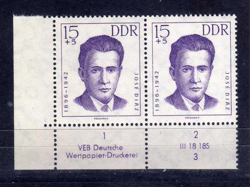 DDR 1962 920 DV Formnummer 3 Druckvermerk ** Antifaschisten 15+5 Pfg.