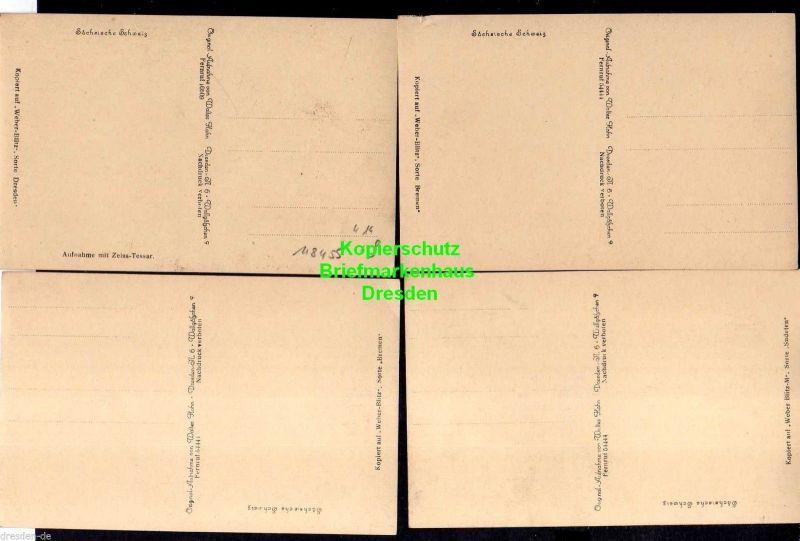 4 Ansichtskarte Sächsische Schweiz um 1930 Lokomotive Bastei Höllenhund mit Raaberke 1