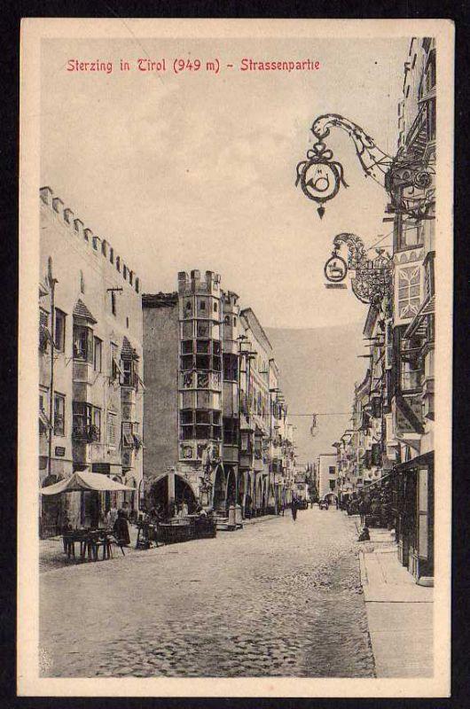 Ansichtskarte Sterzing in Tirol 1913 Strassenpartie Posthorn Ausleger 0