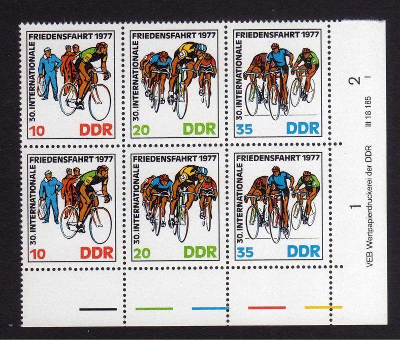 DDR 1977 2216 - 2218 DV ** FN I Friedensfahrt Warschau - Berlin - Prag 0