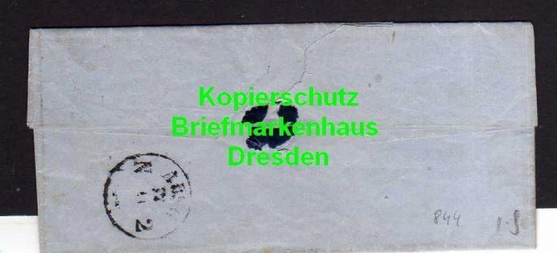 V844 Faltbrief Kyritz 1856 nach Rüggin an Anna von Plesten 3