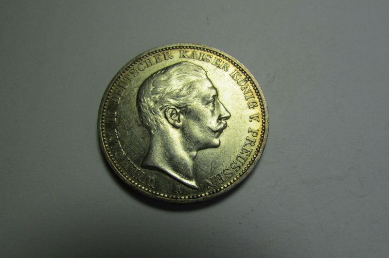m060 3 Mark Preussen Wilhelm 1909 0