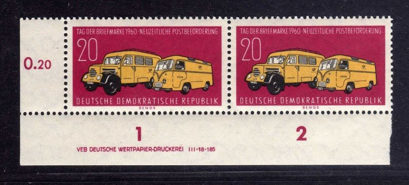 DDR 789 ** DV  Tag der Briefmarke Wolf Variante c