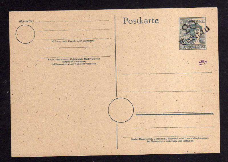 H979 Handstempel Bezirk 20 Halle Ganzsache AS 12 Pfg. Torgau Handbuch 156 geprüf