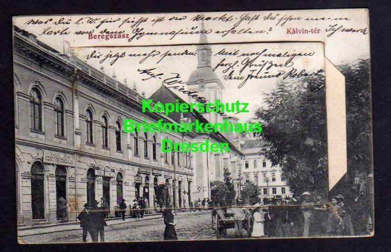 Ansichtskarte mit Leporello Beregszasz Bergsaß Berehowe 1915 Feldpoststation 151 kal