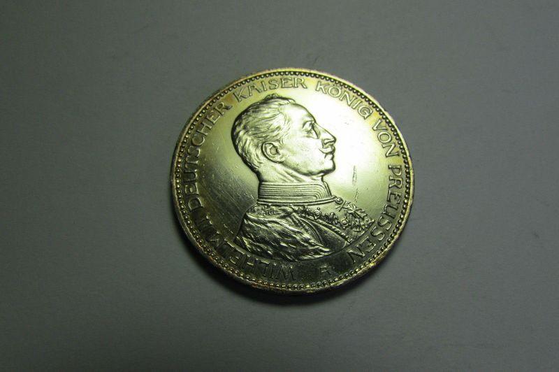 m062 3 Mark Preussen Wilhelm 1914