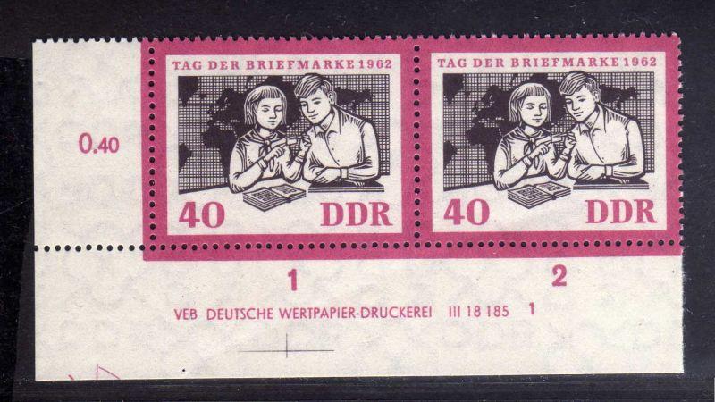 DDR 1962 924 DV Formnummer 1 Druckvermerk ** Tag der Briefmarke