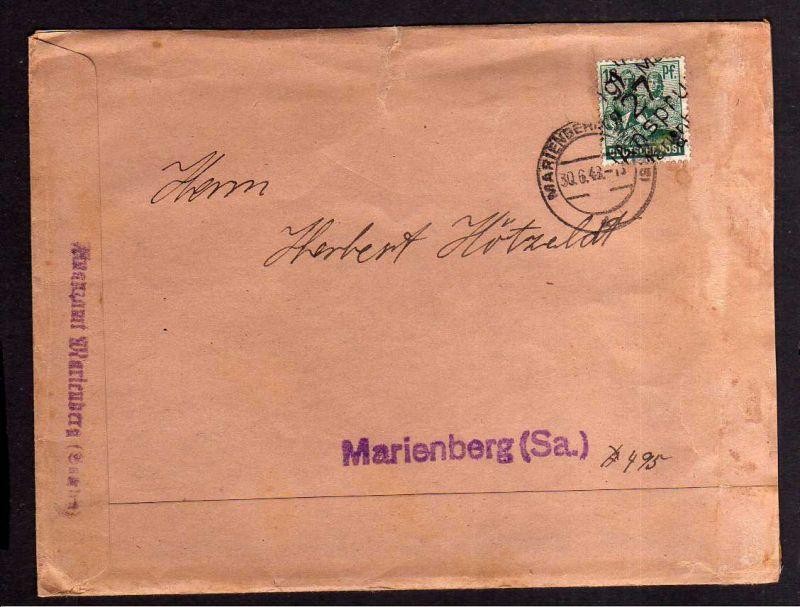 h1230 Brief Handstempel Bezirk 27 Ansprung 30.6.48 Notumschlag Finanzamt Marienb