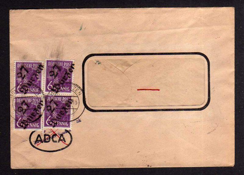 h1259 Brief Handstempel Bezirk 27 Waldheim 6.7.48 Sächs. Landeskreditbank