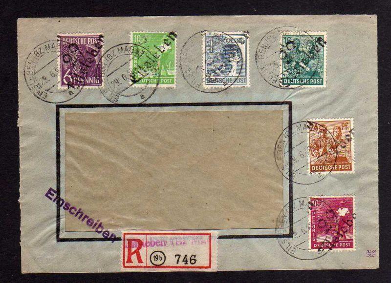 h872 Brief Handstempel Bezirk 29 Eilsleben Bez. Magdeburg 29.6.48 Einschreiben F