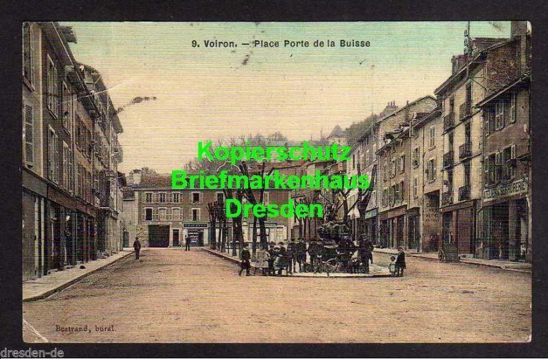 Ansichtskarte Voiron Place Porte de la Buisse um 1918 Atelier de Serrurerie Schlosse