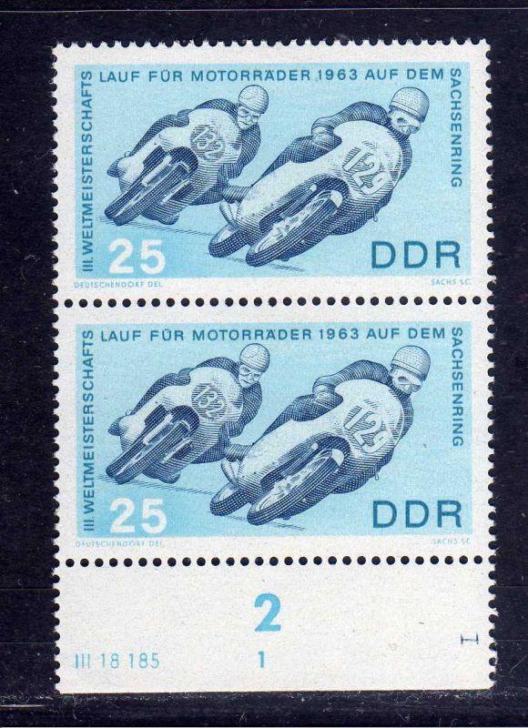 DDR 1963 974 DV Druckvermerk I liegend für Stichtiefdruck auf dem Unterrand