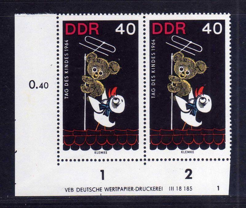 DDR 1964 1029 DV Druckvermerk FN 1 ** Kinderfernsehen Bummi Schnatterinchen