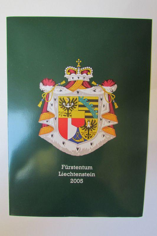 Liechtenstein 2005 ** Jahrgangsmappe mit Neujahrskarte