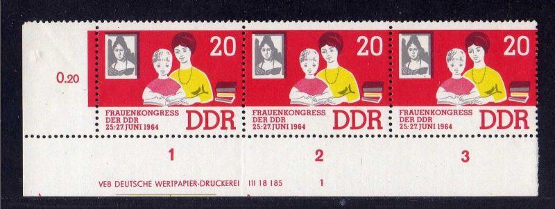 DDR 1964 1030 DV Druckvermerk FN 1 ** Frauenkongress