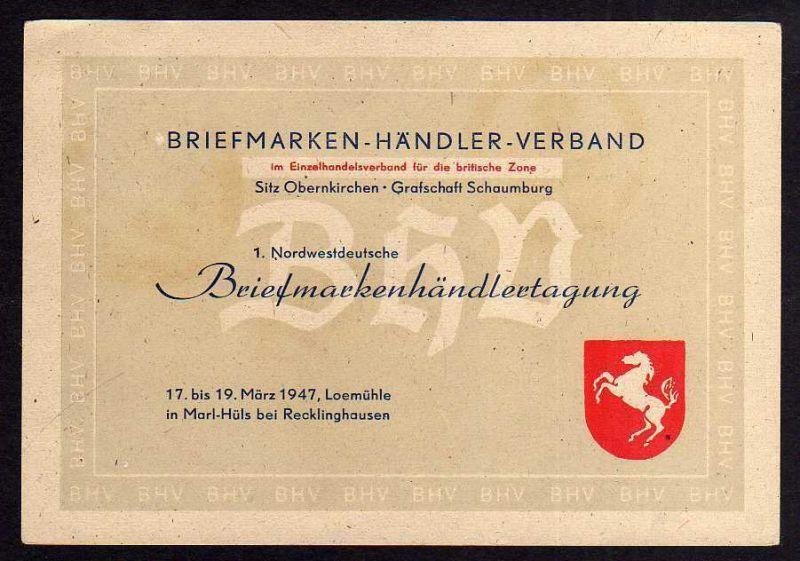 Ansichtskarte Loemühle Marl-Hüls bei Recklinghausen 1947