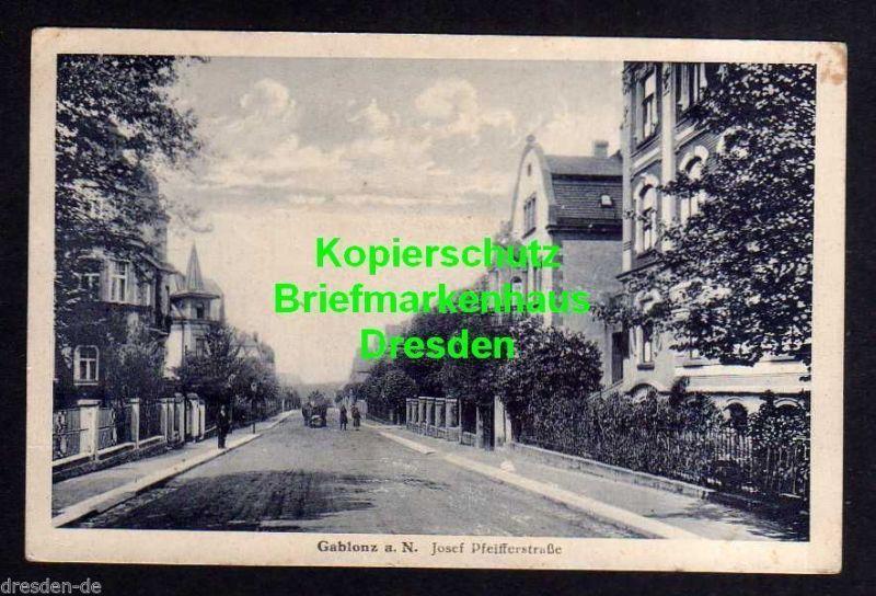 Ansichtskarte Gablonz an der Neiße Josef Pfeifferstraße um 1920