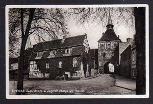 Ansichtskarte Stralsund Jugendheim Jugendherberge am Kütertor 1936