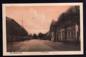 Ansichtskarte Gr. Wusterwitz Großwusterwitz Hauptstrasse 1915