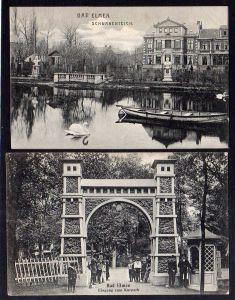 2 Ansichtskarte Bad Salzelmen Elmen EIngang Kurpark 1911 Schwanenteich Grossalze 1906