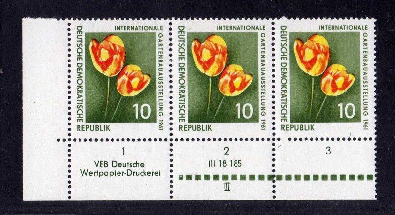 DDR 1961 854 DV III Druckvermerk **  IGA Erfurt Internationale Gartenbauauss