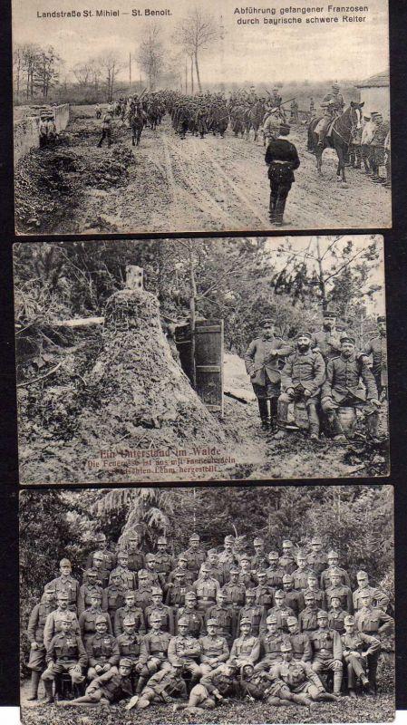 3 Ansichtskarte Militär St. Mihiel St. Benoit Militär 1917 Feldpost