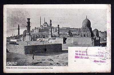 Ansichtskarte Kairo Caire 1898 Reise Erste Internationale Ansichtskartengesellschaft