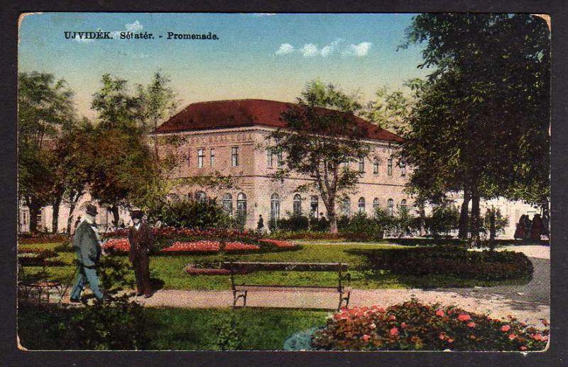 Ansichtskarte Novi Sad Нови Сад Neusatz Újvidék Ujvidek Setater Promenade 1915 Feldpo