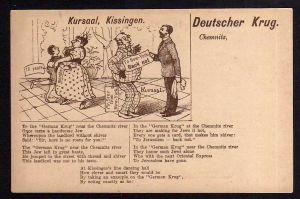Ansichtskarte Deutscher Krug Chemnitz Jude Judaika um 1900 Jerusalem Jew Judaica