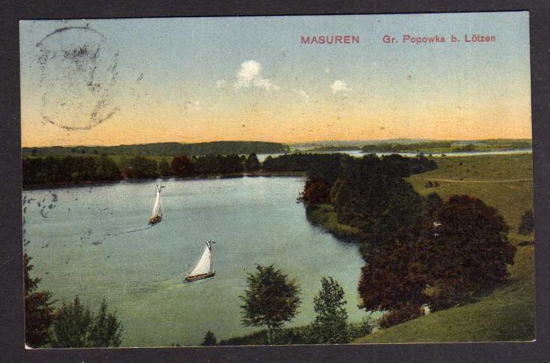 Ansichtskarte Masuren Ostpr. Gr. Popowka b. Lötzen 1912 Ostpreußen Rudczanny