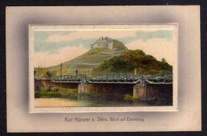 Ansichtskarte Bad Münster am Stein Ebernburg Brücke 1909 Rheinland-Pfalz