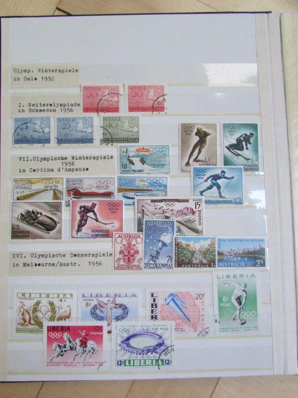 Olympia 1972 Motivsammlung In 3 Alben Diverse Philatelie Briefmarken